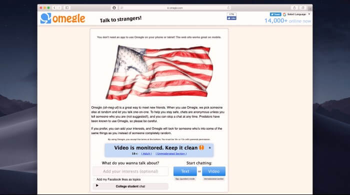 Omegle - Talk to strangers at Omegle.com
